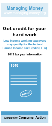 Get Credit for Your Hard Work (2013 Tax Year)