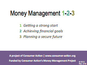Money Management 1-2-3: PowerPoint Slides