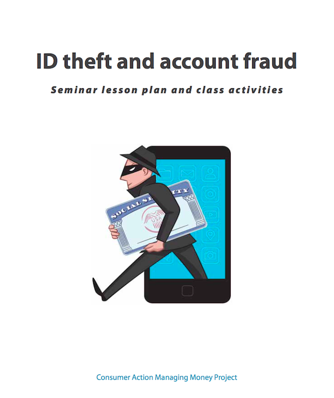 ID Theft & Account Fraud - Lesson Plan (English)