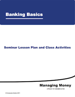 Banking Basics - Seminar Lesson Plan and Class Activities