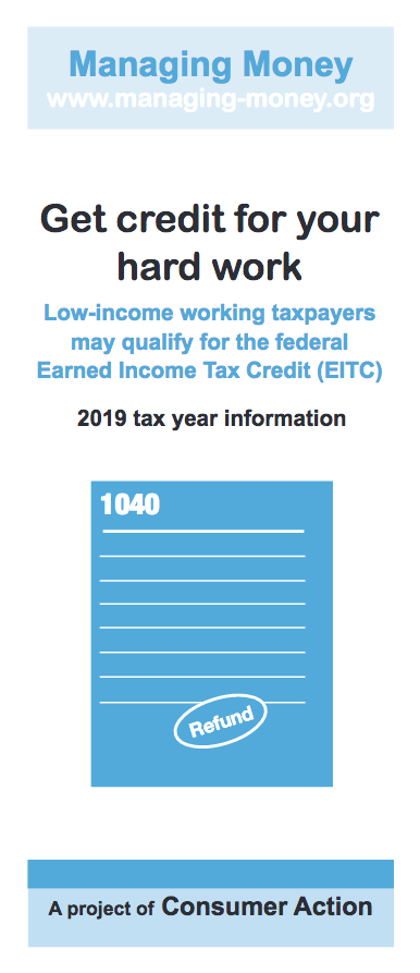 Get Credit for Your Hard Work (2019 Tax Year) Cover