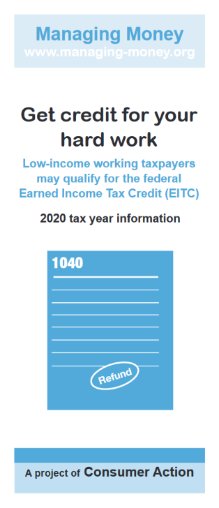 Get Credit for Your Hard Work (2020 Tax Year) Cover