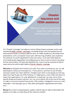 Disaster Insurance and FEMA Assistance - PowerPoint Training Slides Cover