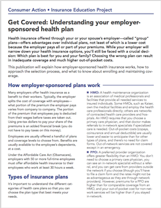 Get Covered: Understanding your employer-sponsored health plan