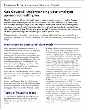 Get Covered: Understanding your employer-sponsored health plan