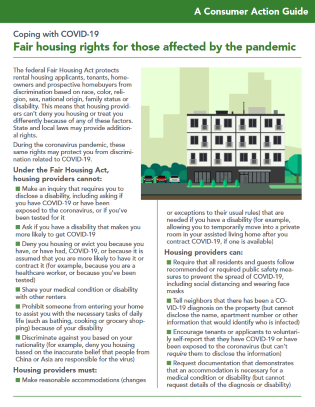 Fair housing rights for those affected by the pandemic