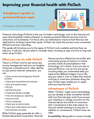 Improving your financial health with FinTech Cover