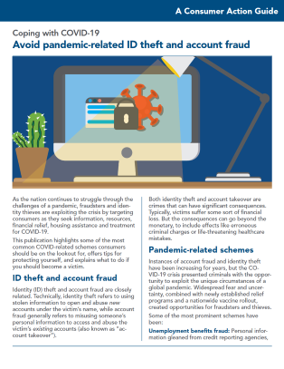 Avoid pandemic-related ID theft and account fraud Cover