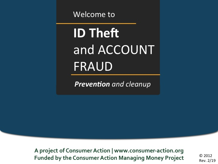 ID Theft & Account Fraud - PowerPoint Training Slides (English)