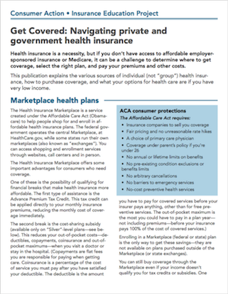 Get Covered: Navigating private and government health insurance