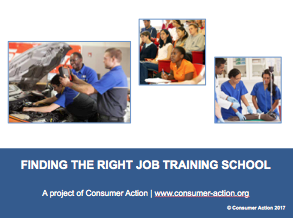 Finding the right job training school - PowerPoint Slides Cover