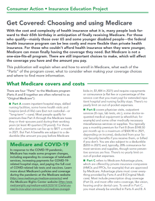 Get Covered: Choosing and using Medicare