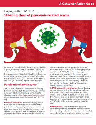 Steering clear of pandemic-related scams Cover