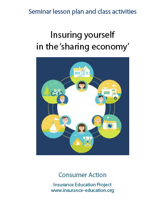 Insuring Yourself in the 'Sharing Economy' - Seminar Lesson Plan and Class Activities Cover