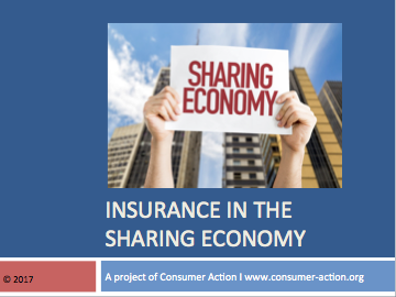Insurance in the 'Sharing Economy' - PowerPoint Slides Cover