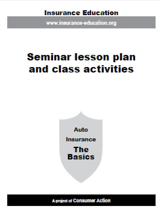 Auto Insurance - Lesson Plan