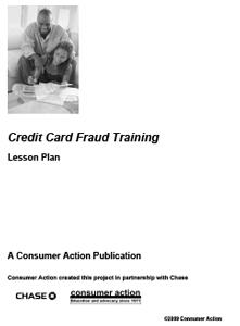 Credit Card Fraud - Lesson Plan