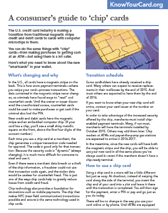 AConsumer's Guide to 'Chip' Cards
