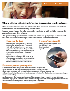 When a collector calls: An insider's guide to responding to debt collectors