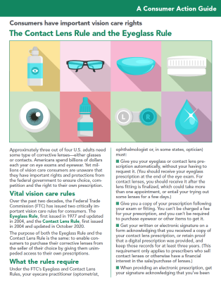 The Contact Lens Rule and the Eyeglass Rule