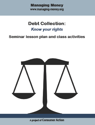 Debt Collection: Know your rights - Seminar Lesson Plan and Class Activities