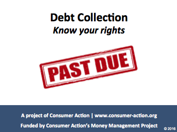 Debt Collection: Know your rights - PowerPoint Slides
