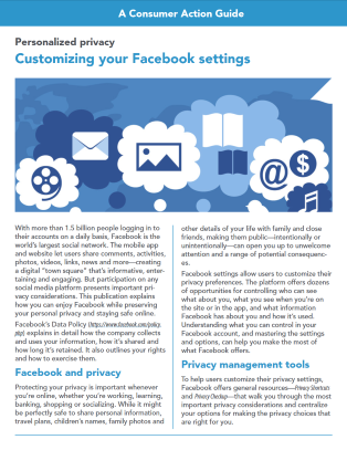 Personalized privacy: Customizing your Facebook settings
