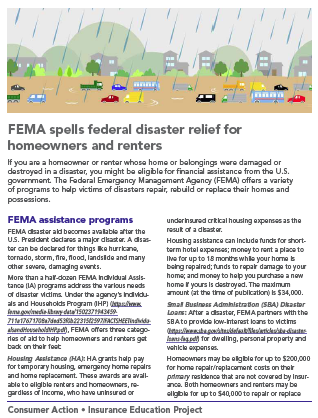 FEMA spells federal disaster relief for homeowners and renters Cover