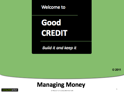 Good Credit -  PowerPoint Training Slides