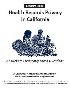 Health Records Privacy in California Q&A