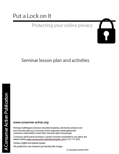 Put a Lock on It - Seminar lesson plan and activities