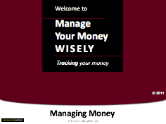 Manage Your Money Wisely - PowerPoint Training Slides (English)