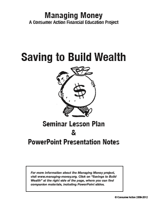 Saving to Build Wealth - Seminar Lesson Plan Packet