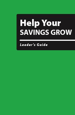 Help Your Savings Grow - Leader's Guide