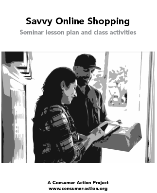 Savvy Online Shopping seminar lesson plan and class activities