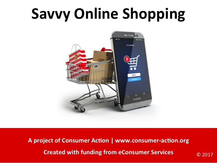 Savvy Online Shopping PowerPoint slides Cover