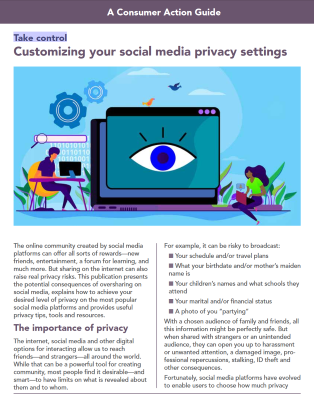 Take control: Customizing your social media privacy settings