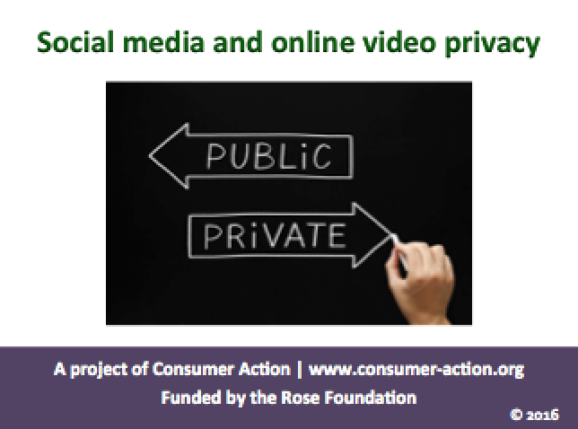 Social Media and Online Video Privacy - PowerPoint slides
