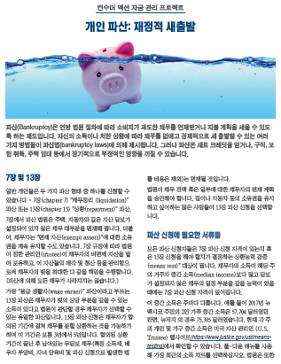 Personal bankruptcy: Your financial fresh start (Korean) Cover