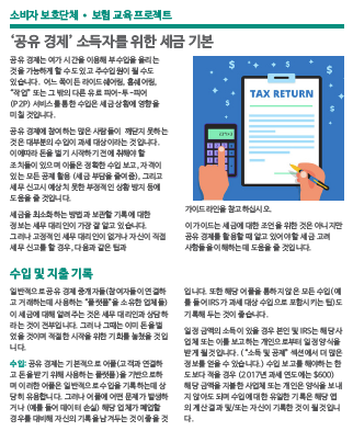 Tax basics for earners in the 'sharing economy' (Korean)