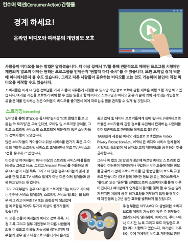 Watch out! Online video and your privacy (Korean)