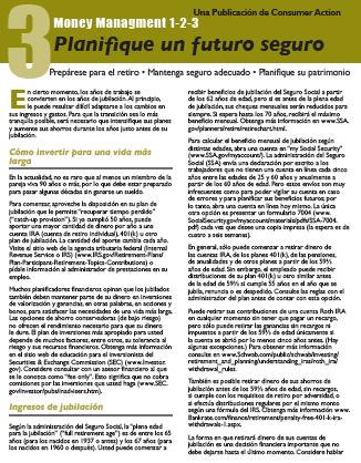 Money Management 1-2-3: THREE: Planning a Secure Future (Spanish)