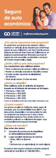California's Low Cost Automobile Insurance Program (Spanish) Cover
