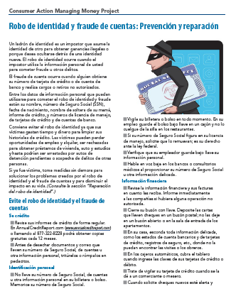 ID Theft & Account Fraud - Prevention & Cleanup (Spanish)