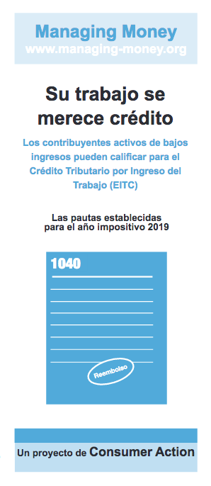 Get Credit for Your Hard Work (2019 Tax Year) (Spanish) Cover