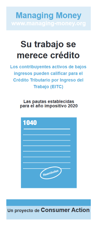 Get Credit for Your Hard Work (2020 Tax Year) (Spanish) Cover