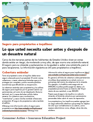 Homeowners and renters insurance (Spanish) Cover