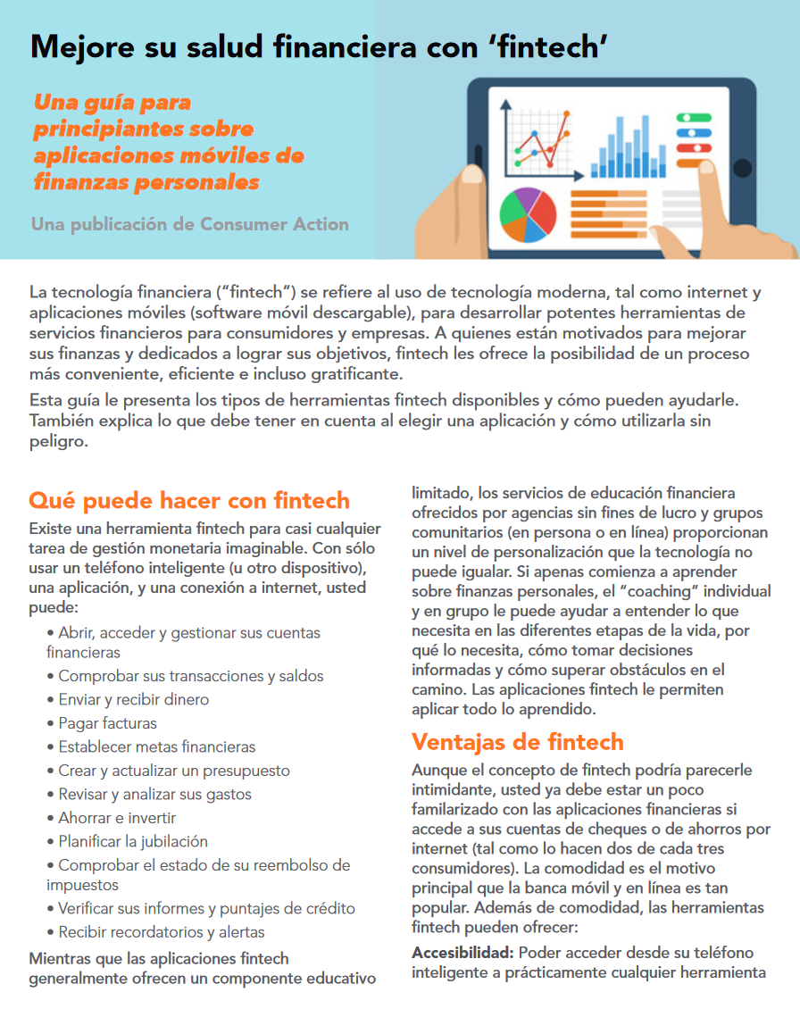 Improving your financial health with FinTech (Spanish)