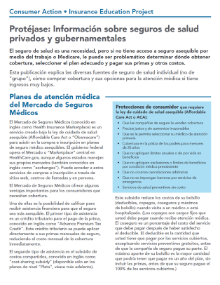 Get Covered: Navigating private and government health insurance (Spanish) Cover
