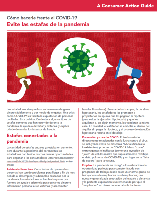 Steering clear of pandemic-related scams (Spanish) Cover